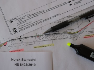 Papers showing the planning needed for a future project