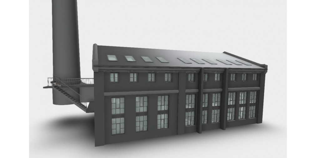 A 3D model of a building created by Scan Survey