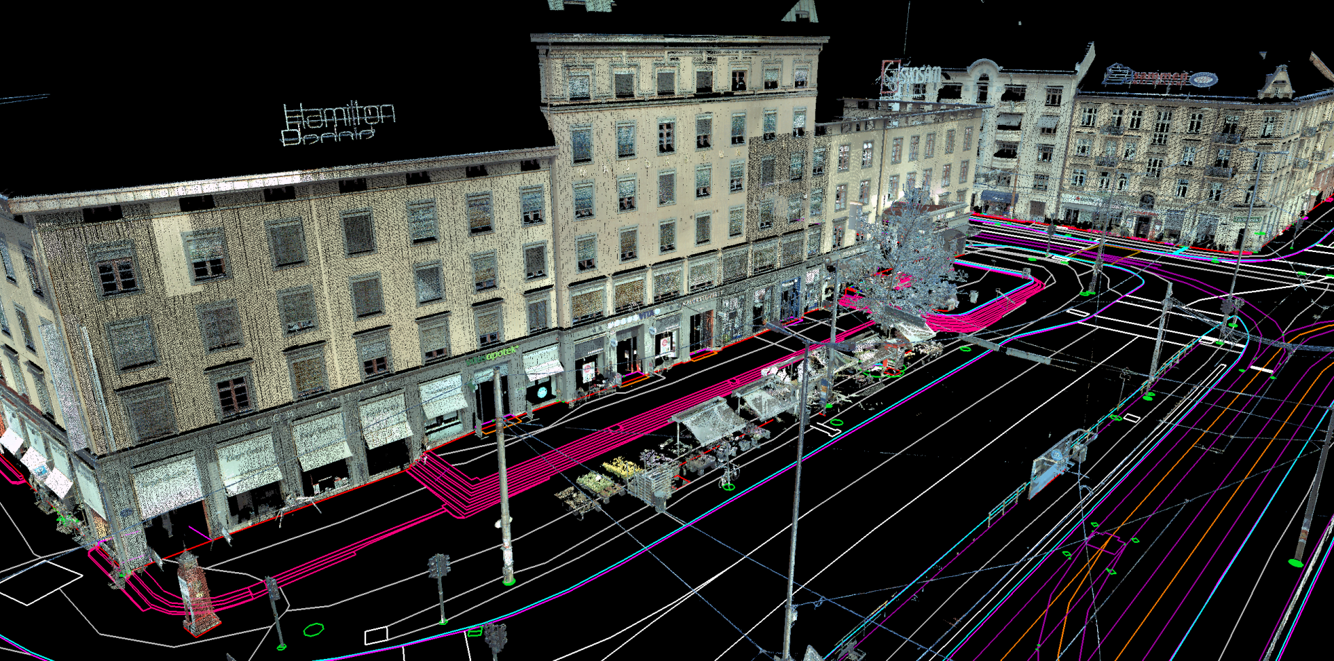 A Laser scan and 3D model of Majorstuen in Oslo