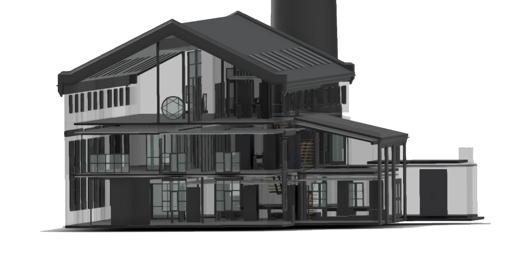 3 d model of building done by scan survey