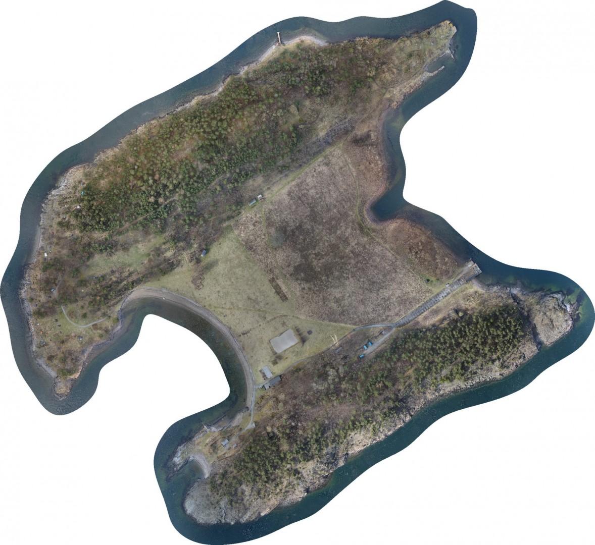 langøyene project terrain model from drone