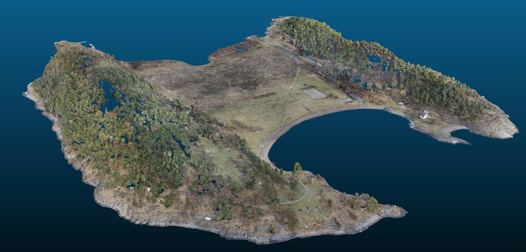 langøyene project 3d terrain model from drone