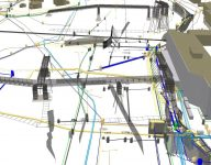 3d manholes and pipelines animated image from data captured