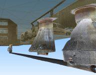 3D-rør og 3D-kum med TIN terrengmodell og punktsky