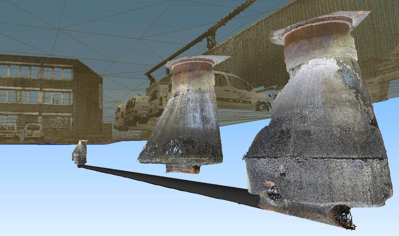 3d manholes and pipelines image created from data captured