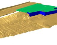 illustration image from data collect from measuring a river bed
