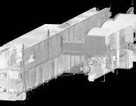 Laser scanning and 3D modeling illustration